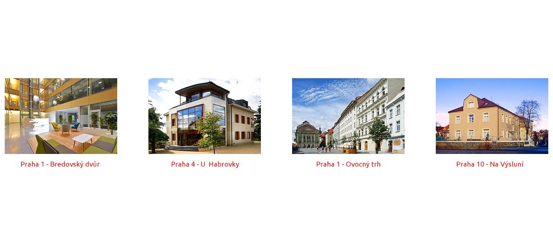 Poskytnutí sídla společnosti Praha 1, Praha 4 a Praha 10